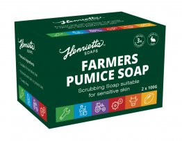 Henrietta 187 Farmers Pumice Soap Twin Pack of 100g MPI approved
