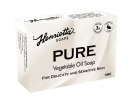 Henrietta 203 Pure Vegetable Oil Soap 100g Colour and Perfume Free Single