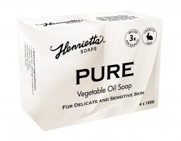 Henrietta 204 Pure Vegetable Oil Soap 100g Colour and Perfume Free 4 Pack