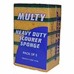 Edco 18147-1 Multi Scouring Sponges Yellow Green