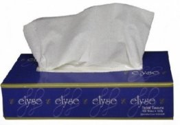 Elyse Premium EFT-1002 Facial Tissues Carton (48 Boxes), 100 Sheets Per Box