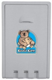 Koala Kare KB101-01 Vertical Baby Change Table Grey Plastic
