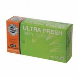 Ultrafresh 468402L-1 Vinyl Gloves Clear Powder Free Large Single Pack