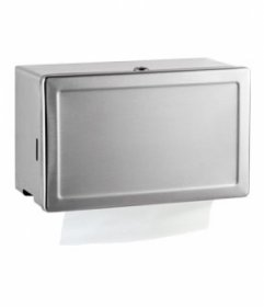 Bobrick B263 Paper Towel Dispenser with Tumbler Lock Surface Mounted Satin Stainless Steel